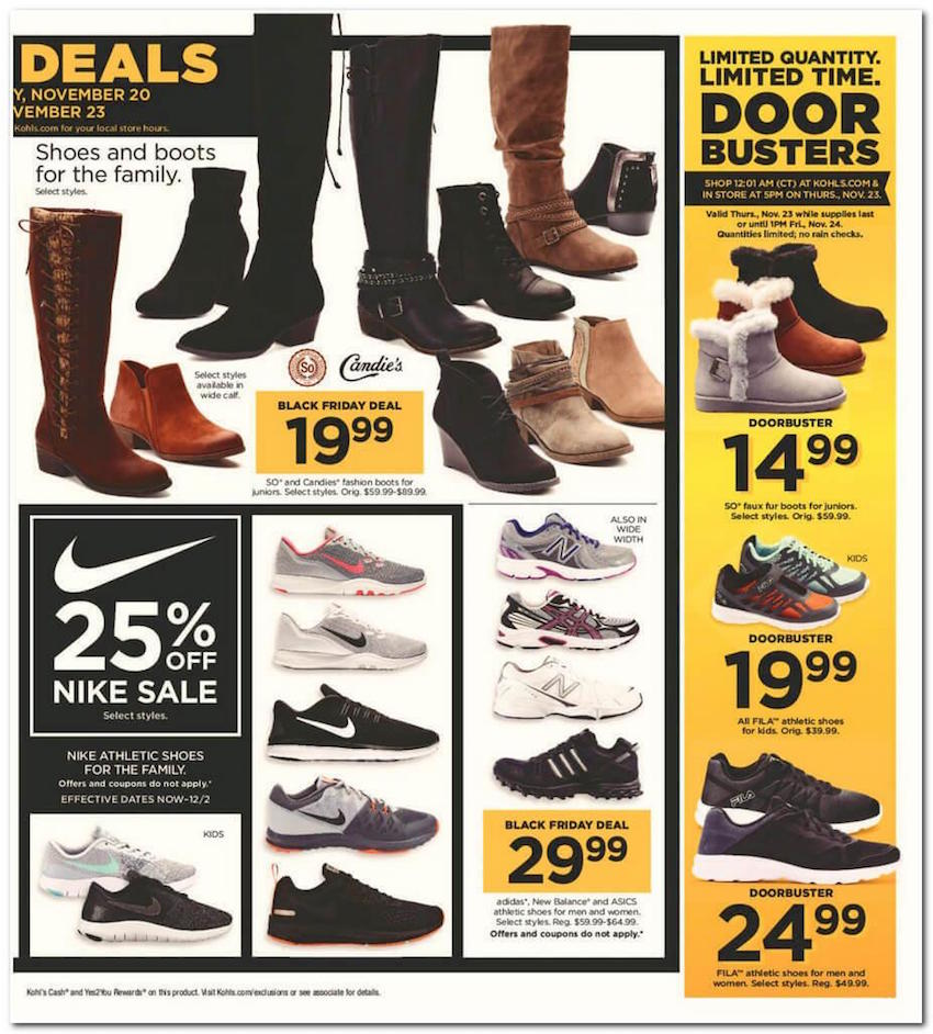 Kohl's is always on my Black Friday shopping list! And only ONCE a year –  on Black Friday – you get $15 Kohl's Cash for every $50 spent!