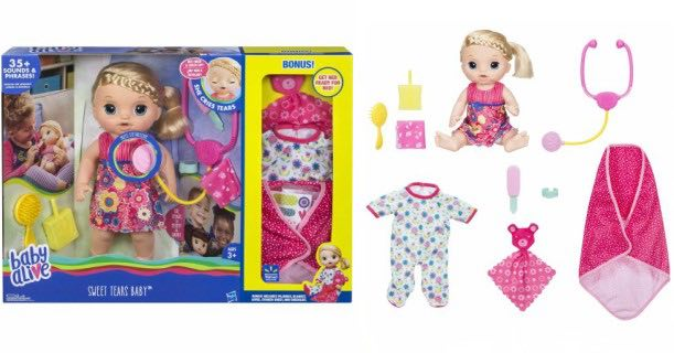 Baby Alive Sweet Tears Baby Exclusive Value Pack Just 38