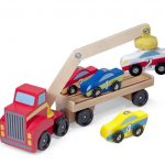 Melissa & Doug Magnetic Car Loader Wooden Toy Set Only $9.51!