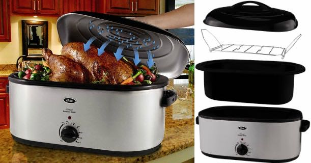 Price Drop! Oster 22-Quart Roaster Oven + Self-Basting Lid ... Oster 22 Quart Roaster Oven