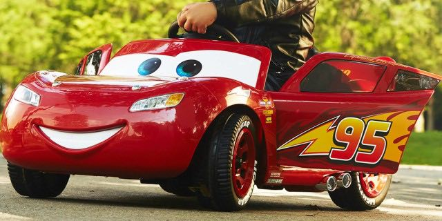 c6b8f7a69191 Ride around in style! Your child is going to love this Walmart deal! Get a Huffy  Disney Pixar Cars 3 Lightning McQueen 6V Battery-Powered ...