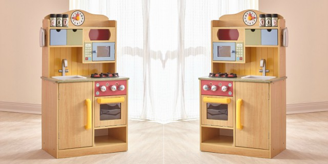 wooden play kitchen accessories teamson chef wooden kitchen only 72 69 1650