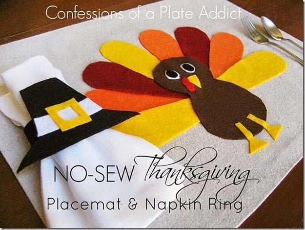 No Sew Thanksgiving Placemat