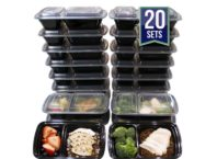 2 Compartment Food Containers
