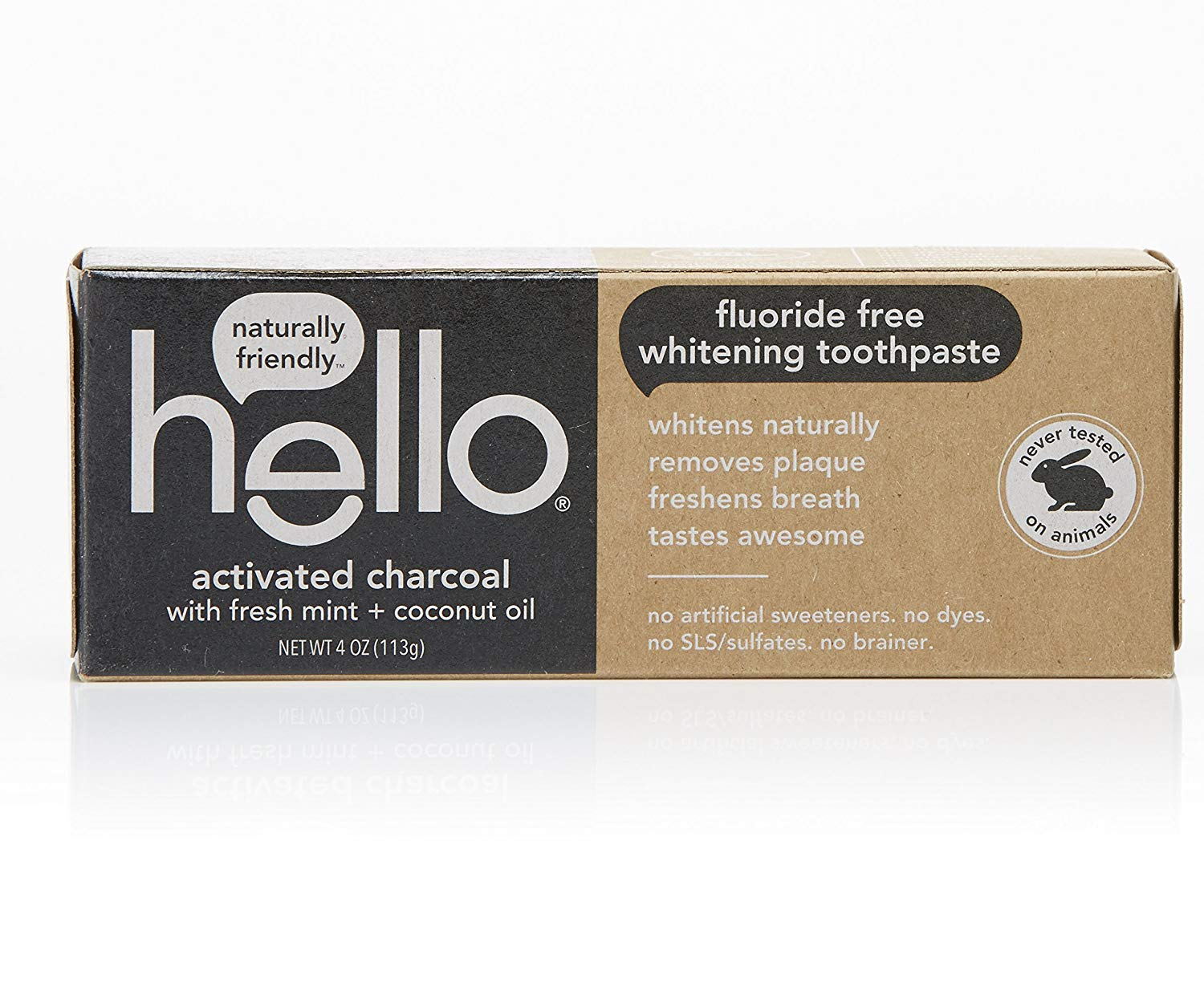 Hello Oral Care Activated Charcoal Teeth Whitening Fluoride 3 30