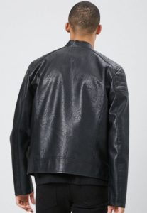 Faux Leather Moto Jacket At Sale