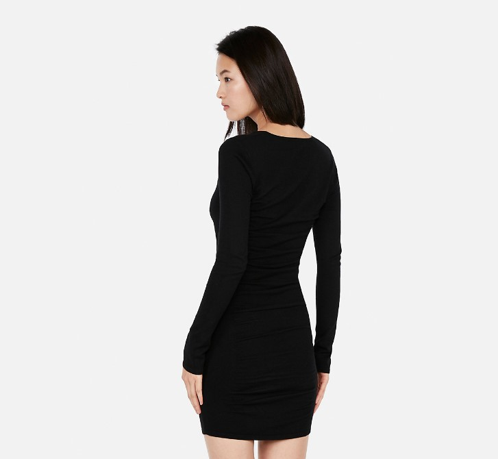 Ruched Sweater Dress At Discount
