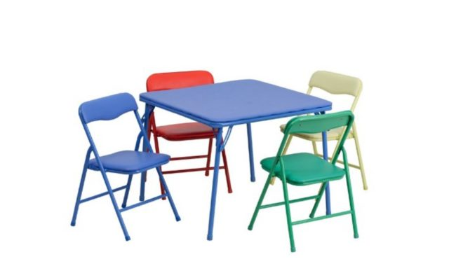 Colorful 5 Piece Folding Table and Chair Set
