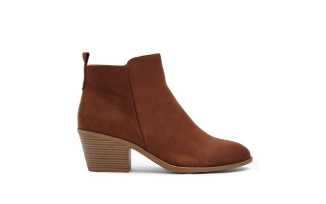 Faux Suede Zippered Ankle Booties