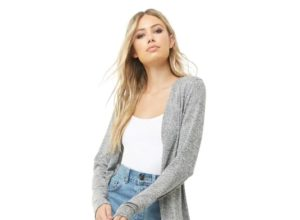 Marled Open Front Longline Cardigan