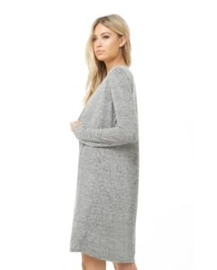 Marled Open Front Longline Cardigan At Discount