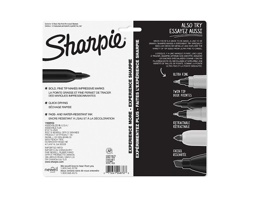 Sharpie Permanent Markers At Discount