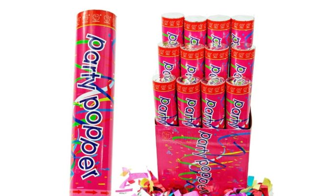 12 Pack Large Air Compressed Party Poppers