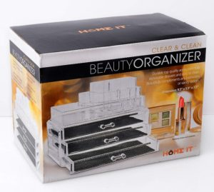 Home it Clear Acrylic Makeup Organizer At DIscount