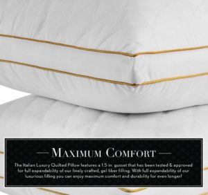 Italian Luxury Quilted Fiber Filled Pillow At Sale