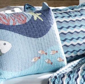 Lush Decor Sealife Reversible 2 Piece Blue Quilt Bedding Set At Sale