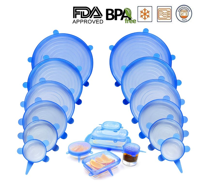NEWBEA Silicone Stretch Lids Containers