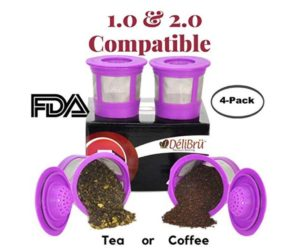 Reusable K Cups for Keurig 2.0 & 1.0 4 PACK At Discount