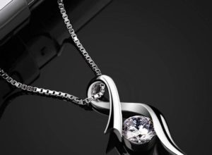 Silver Plated Cutout Pendant Necklace At Sale