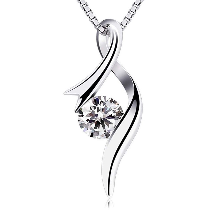 Silver Plated Cutout Pendant Necklace