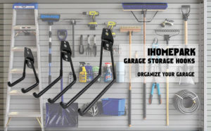 Wall Mount Ihomepark Heavy Duty Garage Storage Utility Hooks for Ladders  Tools
