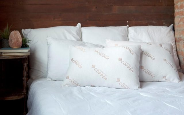 2 Pack Essence of Copper Bed Pillows At Discount