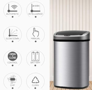 BestOffice Automatic Kitchen Trash Can At Discount