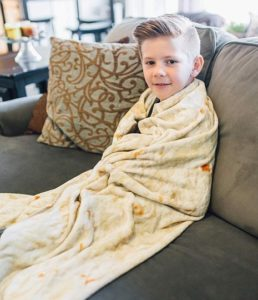Comfort Food Creations Burrito Wrap Novelty Blanket At Discount