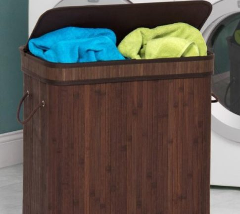 Double Laundry Bamboo Hamper At Sale