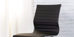 Flash Furniture Armless Leather Chair At Sale