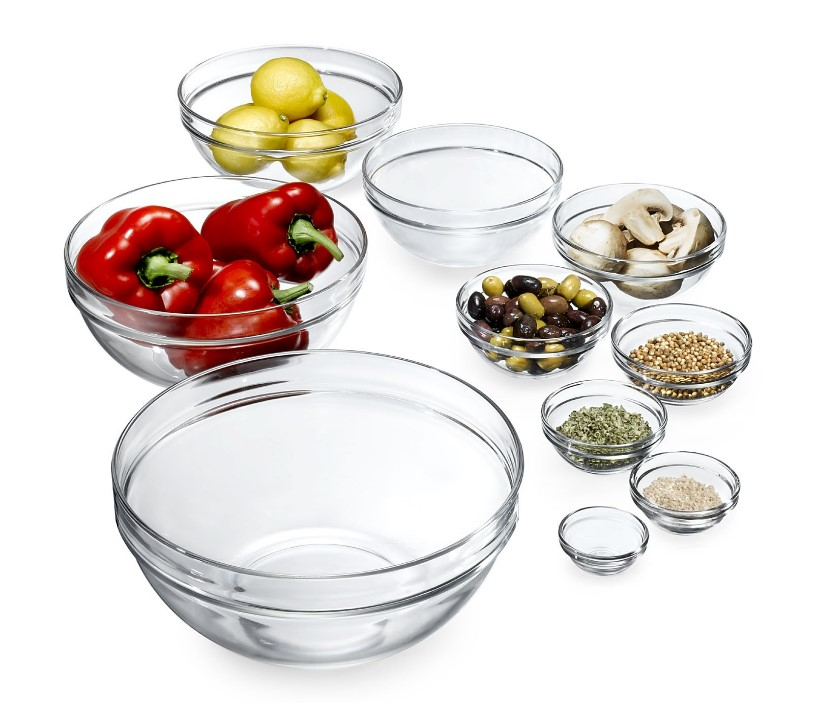 Luminarc 10 Piece Set Stackable Bowl Set
