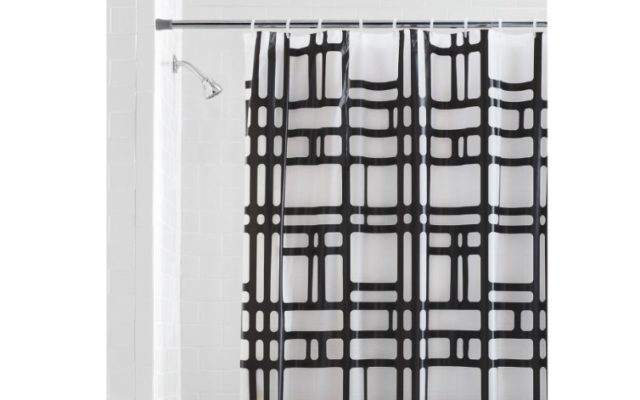 Mainstays Elements Geometric PEVA Shower Curtain