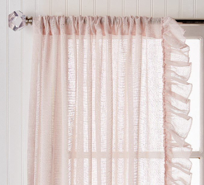 Pioneer Woman Ruffle Pole Top Curtain Panel At Sale