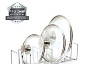Stainless Steel Pot Lid Organizer