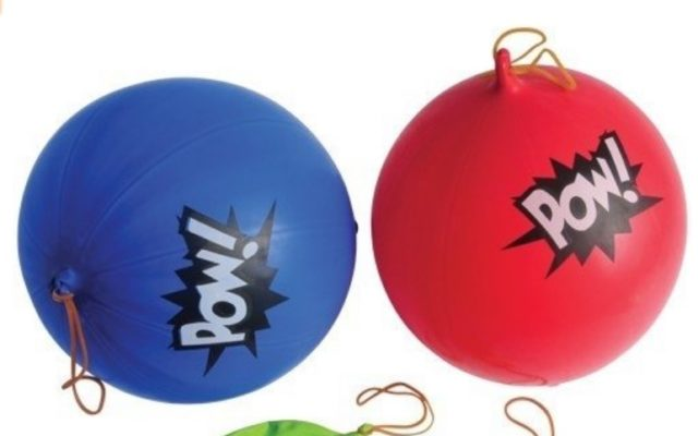 U S Toy 12 Assorted Color Punch Balloons