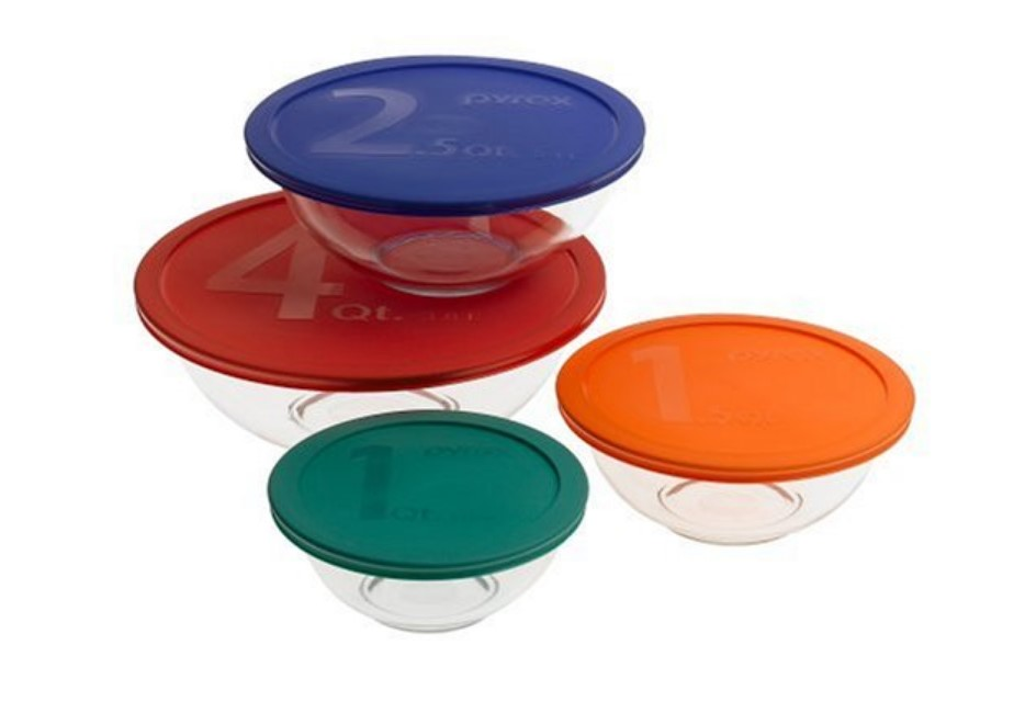 Pyrex Smart 8 Piece Mixing Bowl Set
