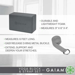 Gaiam Yoga Block Yoga Strap Combo Set 9 99 Reg 14 98 Mojosavings Com