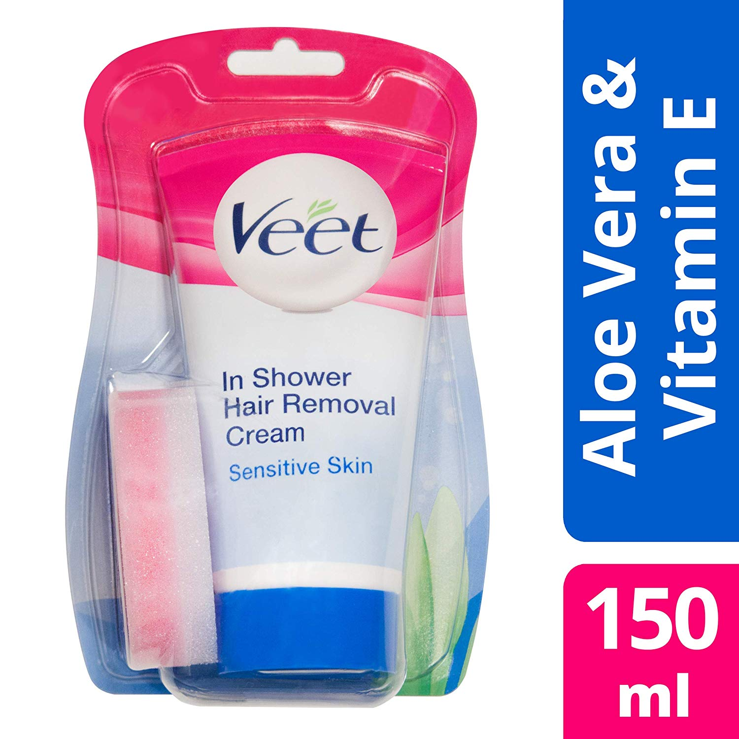 Veet In Shower Hair Removal Cream Sensitive Skin With Aloe Vera