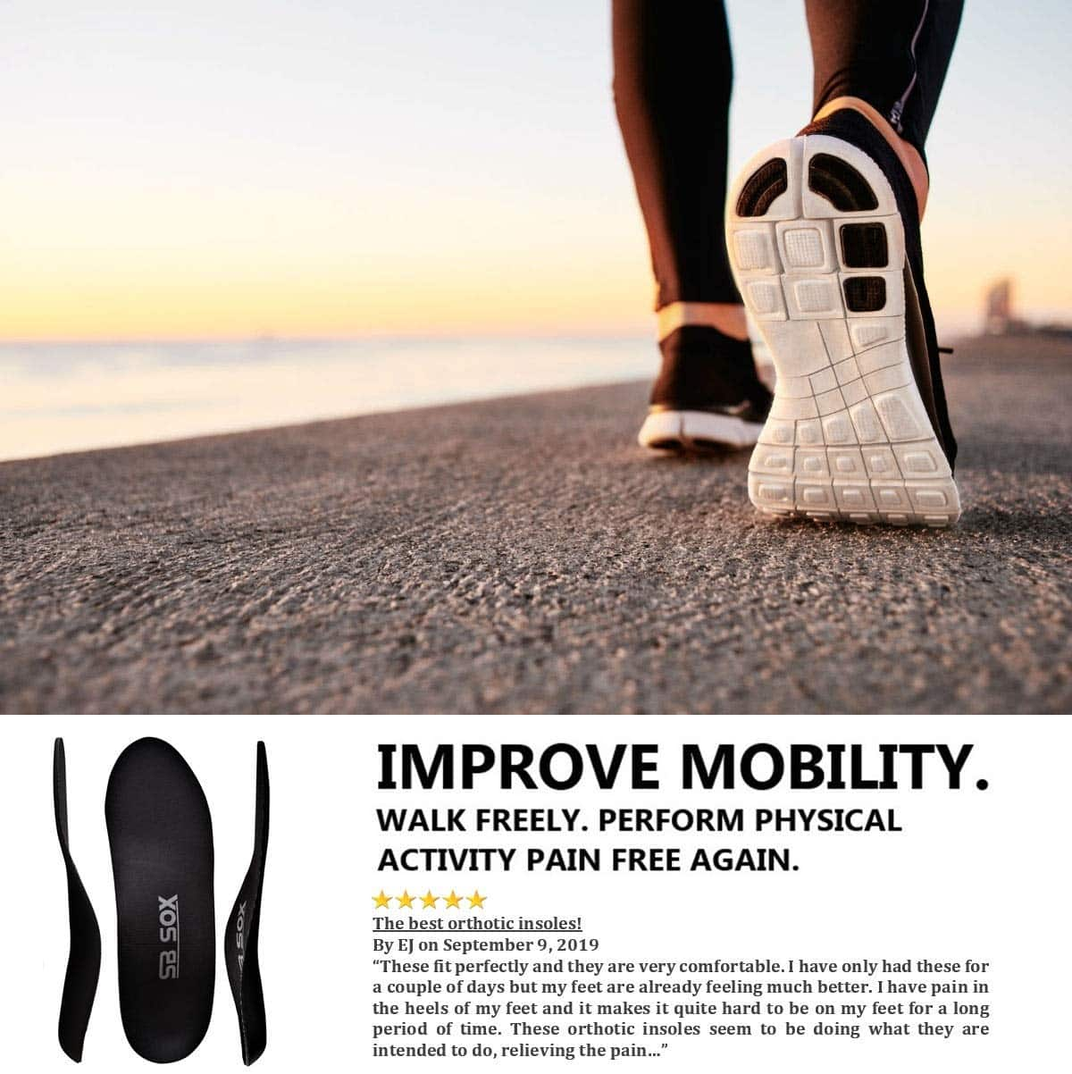 SB SOX Plantar Fasciitis /& Arch Support Shoe Insert Insoles for Men /& Women Pair Heel Provides Foot Best Orthotic Inserts for Daily Use Arch Support That You Need