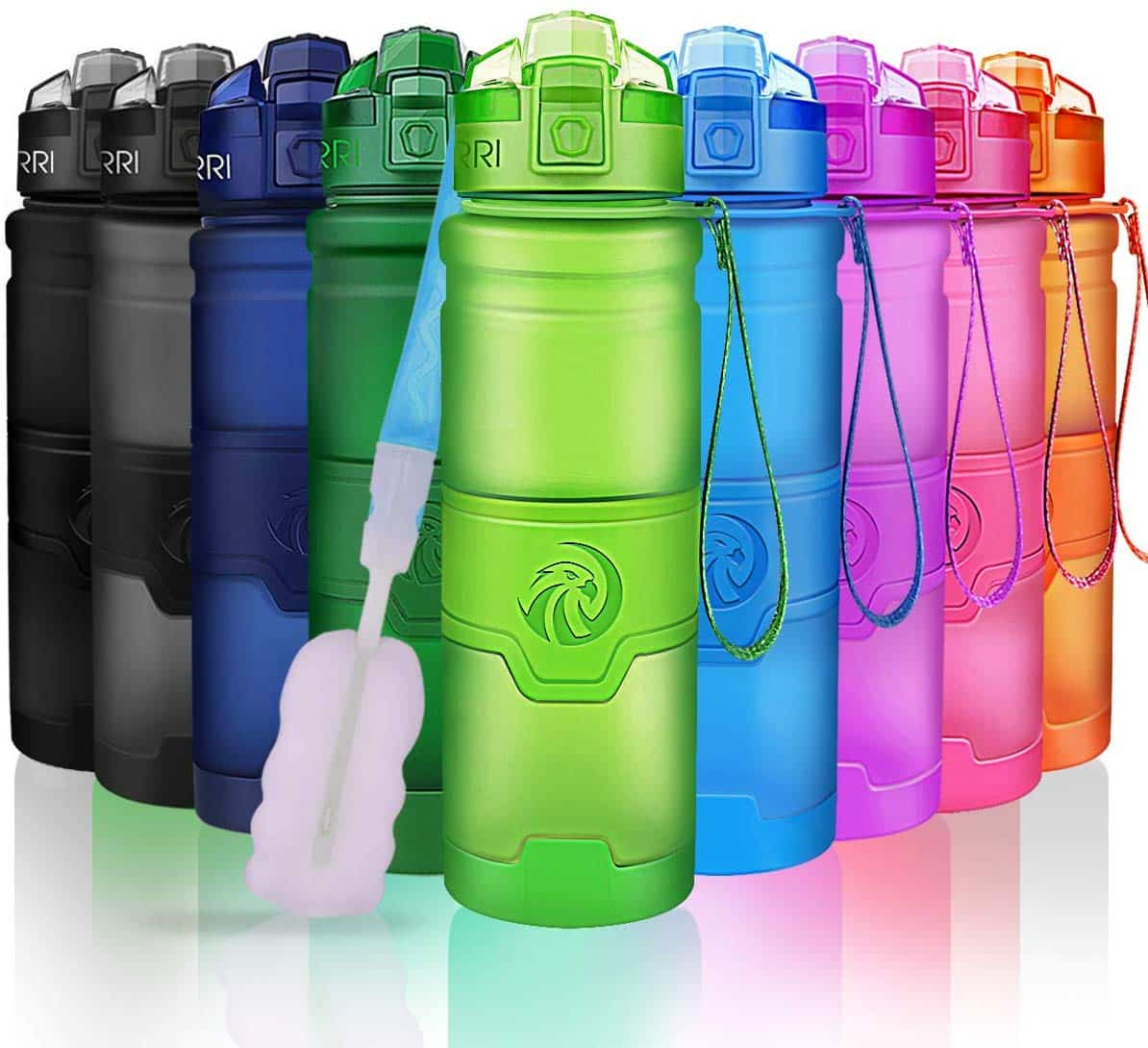 500ml Sports Kids Water Bottle,17oz BPA Free Leak Proof Tritan Wide Mouth Bottle with Flip Lid for Outdoors,Camping,Gym,Yoga- Kids//Adults