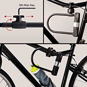 Heavy Duty PVC Coating with 2 Key Steel Security Lawn Bike U Lock and Cable