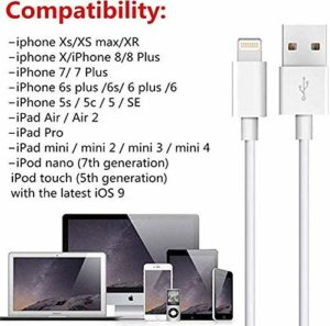 MFI Certified 5 Pack 3FT USB Cable iPhone Lightning Cable for Apple iPhone Xs,Xs Max,XR,X,8,8 Plus,7,7 Plus,6S,6S Plus,iPad Air,Mini//iPod Touch//Case Infinite Power Charging /& Syncing Cord