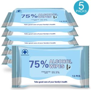 Home Restaurant Hotel AlcoHOL Wet Wipes 1 Packs Disinfectant Wipes 60 Sheets//Pack Portable Antiseptic Cleaning Sterilization Wipes Wet Wipes for Tourism Car Office
