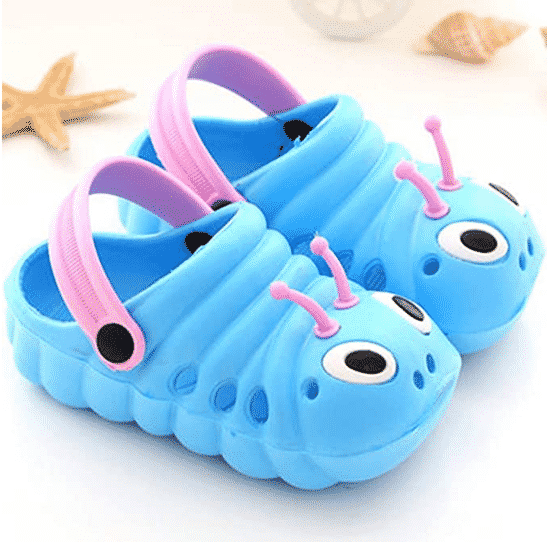 Baby Girl Slippers Cute Flower and Butterflies Summer Breathable Quick-Drying Non-Slip Slippers