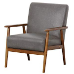 Pulaski Wood Frame Faux Leather Accent Chair, 25″ x 28″ x 31″, Steel Grey $109.86 (REG $307.20)