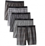 Hanes Ultimate Men's 5-Pack Yarn Dye Exposed Waistband Boxer-(Colors May Vary)$21.95 (REG $40.00)
