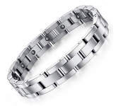 Feraco Mens Sleek Magnetic Therapy Bracelet for Arthritis Pain Relief $17.99 (REG $65.99)