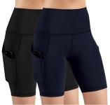 ODODOS High Waist Out Pocket Yoga Short Tummy Control Workout $29.98 (REG $73.98)
