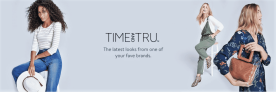 Time and Tru 40%-75% OFF Women's Apparel