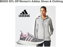 BOGO 50% Off Women's Adidas Shoes & Clothing By: Lord & Taylor